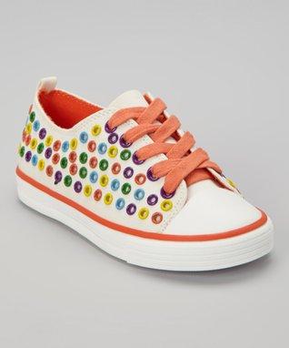 ENZO White & Orange Rome Sneaker
