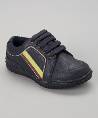 ENZO Navy Blue Lace-Up Sneaker