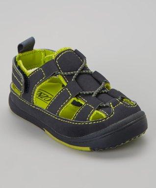 ENZO Navy Blue & Green Sandal