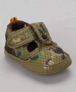 ENZO Green Camo Sporty Sandal