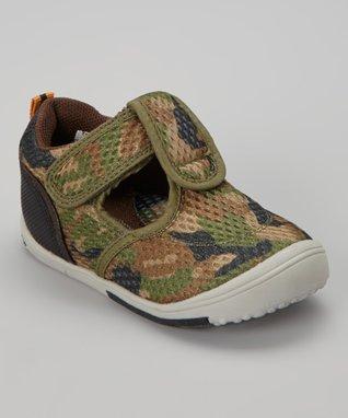 ENZO Green Camo Sporty Sneaker