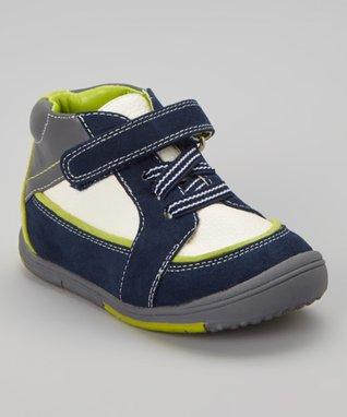 ENZO Navy Blue & Green Sneaker