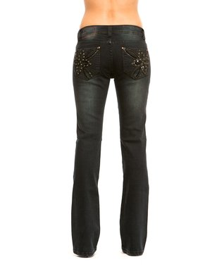RED by Rose Royce Black Berry Sabrina Bootcut Jeans