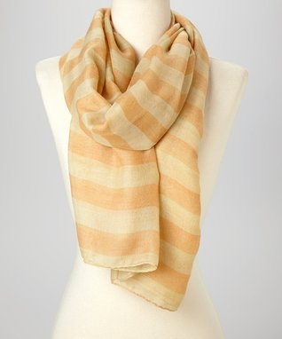 Orange & White Stripe Scarf