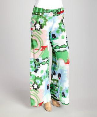 Green & Red Palazzo Pants - Plus