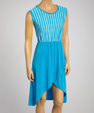 MOA Collection Aqua Sidetail Shift Dress