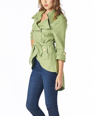 Luii Green Hi-Low Jacket