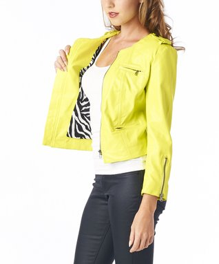 Luii Banana Faux Leather Blazer