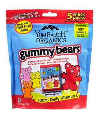 Organic Gummy Bears Snack Pack - Set of Four