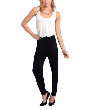 Fuchsia & Navy Color Block Sleeveless Jumpsuit