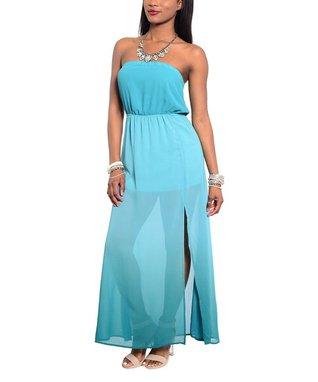 Jade Sheer Strapless Maxi Dress