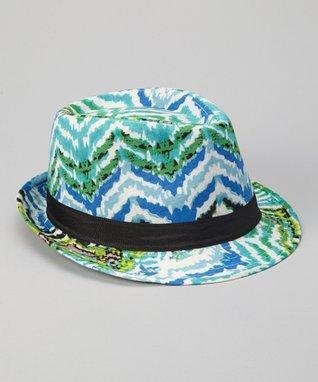 Turquoise Tropical Fedora
