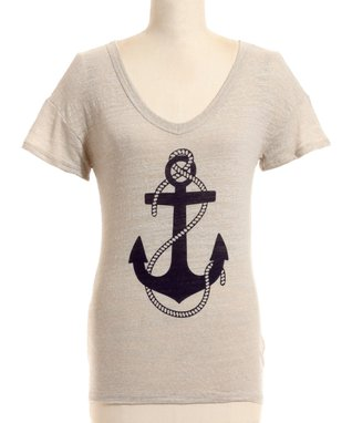 Taupe Anchor Tee