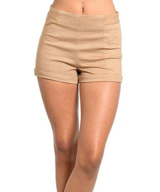 Mocha Zipper Shorts