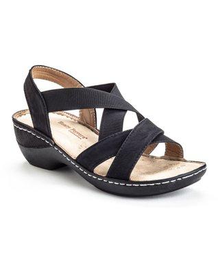 Black Strappy Confident Sandal