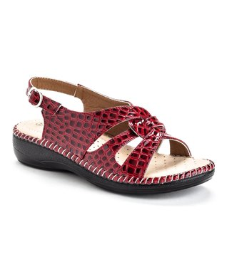 Brown Studded Cutout Mary Jane