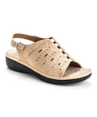 Beige Stitch Confident Sandal
