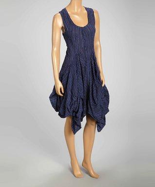 Luna Luz Iris Popcorn Sleeveless Handkerchief Dress