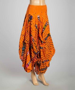 Luna Luz Orange Tie-Dye Skirt