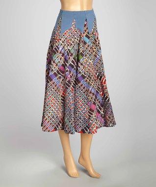 Luna Luz Blue & Purple Tie-Dye Skirt