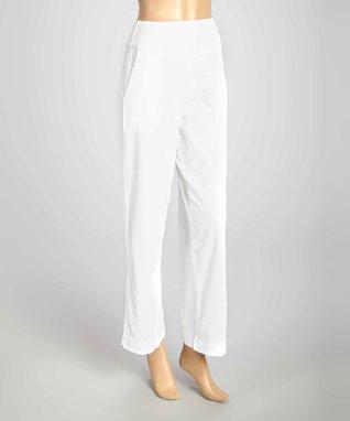 Luna Luz White Wide-Leg Pants