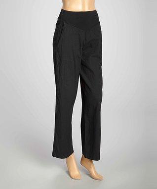 Luna Luz Black Wide-Leg Pants