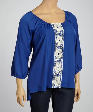 Rust Abstract Sublimation Notch Neck Top - Plus