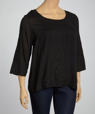 Natural Lace Cap-Sleeve Tunic - Plus