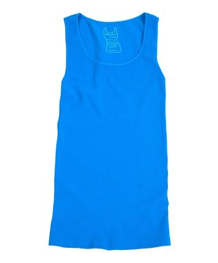 Turquoise Ribbed Scoop Neck Tank