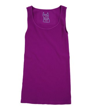 Orchid Ribbed Scoop Neck Tank