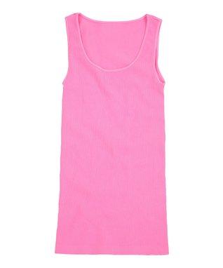 Pink Flamingo Ribbed Scoop Neck Tank