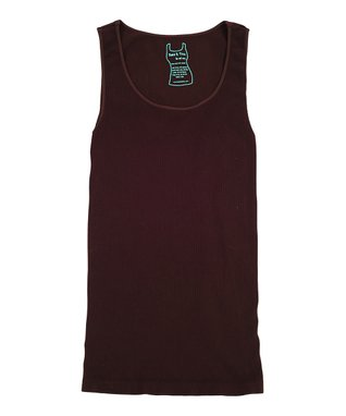 Chocolate Ribbed Scoop Neck Tank