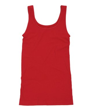 Fire Engine Red Scoop Neck Tank