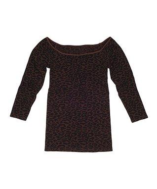 Charcoal Three-Quarter Sleeve Top