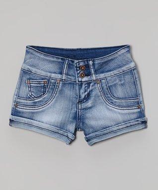 Blue Denim Shorts - Girls