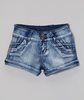 Dark Blue Denim Shorts - Girls