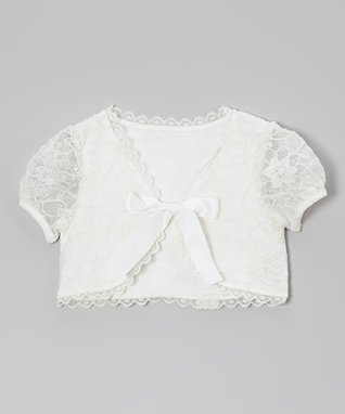 White Lace Shrug - Infant, Toddler & Girls