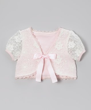 Pink Lace Shrug - Infant, Toddler & Girls