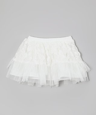 White Lace Ruffle Skirt - Infant, Toddler & Girls