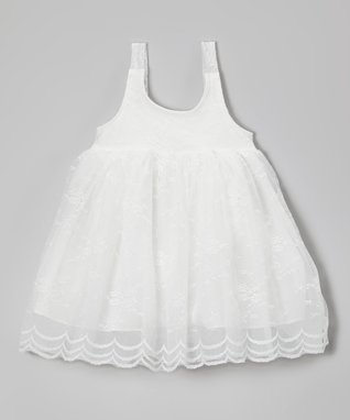 White Lace Babydoll Dress - Infant, Toddler & Girls