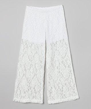 White Lace Palazzo Pants