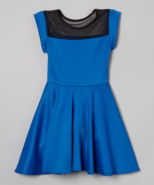Royal Cutout Skater Dress
