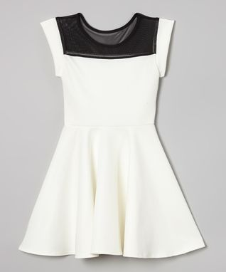 Royal Mesh-Top Skater Dress