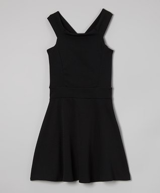 Black Bow-Back Skater Dress