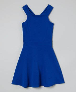 Royal Bow-Back Skater Dress