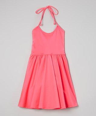 Fuchsia Bow-Back Skater Dress
