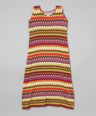 Pink Tribal Maxi Dress