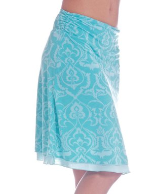 Green Henna Ruched Quick Change Skirt