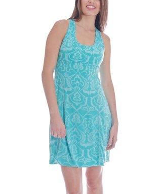 Water Lily Stripe Nina Racerback Dress
