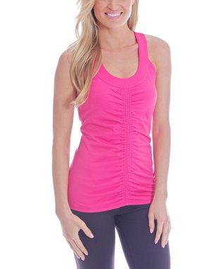 Water Lily Ruched Goddess Racerback Tank